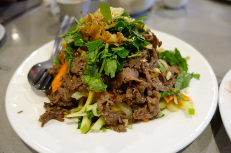 But my pick of the night was beef salad with green mango, apple, starfruit