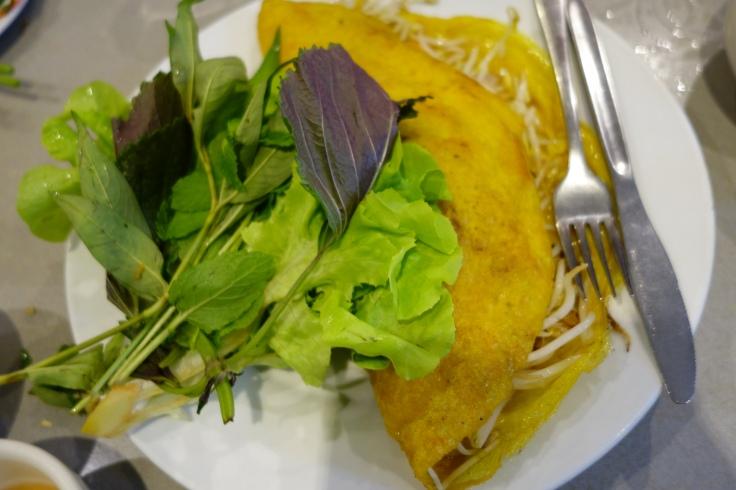 Vietnamese pancake seems healthier than most pancakes