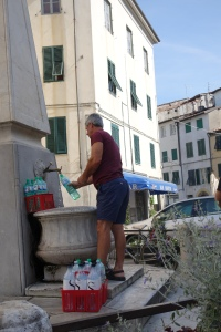 Do as the locals do and fill up with drinking water from the fountain