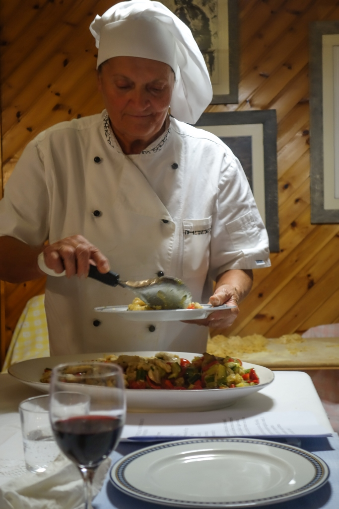 Signor Lalla plates up one of our many courses